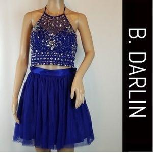 B. Darlin 2 piece Royal Blue Prom Party Dress 7/8